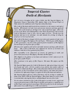 Imperial Charter- Guild of Merchants1